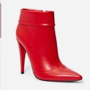Justfab Red Keva Stiletto Bootie Sz 12